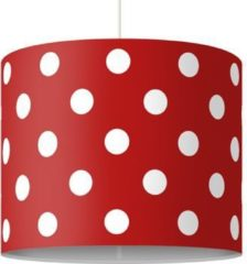 PPS. Imaging Pendelleuchte - No.DS92 Punktdesign Girly Rot - Lampe - Lampenschirm Rot