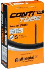 Zwarte Continental Race 28 - Binnenband - 18/25 - 622/630 - 700 x 18/25 - Frans Ventiel - 80 mm