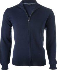 OLYMP heren vest wol - marine blauw (met rits) - Maat S