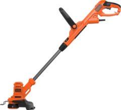 Oranje BLACK+DECKER 450W Grastrimmer BESTA525 - 25cm maaibreedte - automatische draadtoevoer