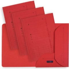 OXFORD Ultimate dossiermap, formaat A4, uit karton, met 2 kleppen, pak van 25 stuks, rood
