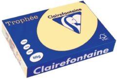 Papier kleur A4 80 g geel Clairefontaine Trophée pastelkleuren - Riem van 500 vellen