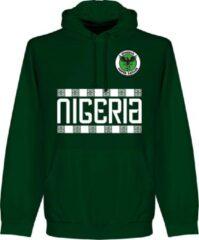 Donkergroene Retake Nigeria Team Hooded Sweater - Donker Groen - XL
