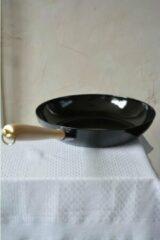 Riess Koekenpan zwart 30 cm - houten handvat
