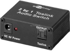 Goobay Toslink Audio Switch 2 IN/1 OUT, Adapter