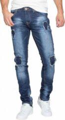 Mezaguz Heren Wire Jeans Bleu Slimfit W30XL34