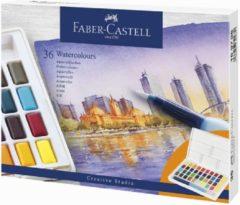 Waterverf Faber Castell palet à 36 kleuren assorti