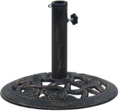 VidaXL parasolvoet rond 9kg 40cm gietijzer zwart en bronskleurig