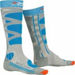 X-socks Skisokken Control Polyamide Grijs/turquoise Mt 39-40