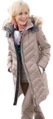 Naturelkleurige Casual Looks doorgestikte jas
