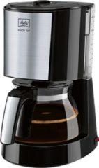 Zwarte Melitta filterkoffieapparaat Melitta Enjoy Top 1017-04, filterkoffieapparaat met glazen kan