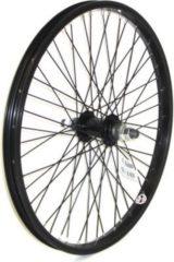 """Winora BMX Vorderrad 20x1.75"""" gespeicht 48-Loch, Alu-Kastenfelge,14 mm Achse, schwarz (1 Stück)"""