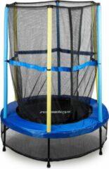 Blauwe Relaxdays - trampoline voor kinderen met veiligheidsnet - tuin - speelgoed
