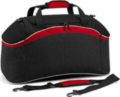 Rode Bagbase Teamwear sporttas, Kleur Black/ Classic Red/ White