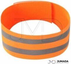 Jumada Reflecterende Hardloop Verlichting - Sportarmband - Veiligheid - One Size - Oranje
