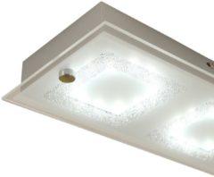 HOMCOM LED Deckenlampe 4-flammig 24W Silber Deckenlampe Deckenbeleuchtung Wohnzimmerlampe