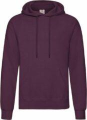Fruit of the Loom capuchon sweater bordeaux rood voor volwassenen - Classic Hooded Sweat - Hoodie - Heren kleding L (EU 52)