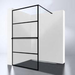 Douche Concurrent Inloopdouche Noire 90x200cm Antikalk Helder Glas Zwart Profiel 10mm Veiligheidsglas Easy Clean
