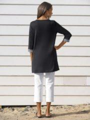 Shirt-Cardigan Alba Moda schwarz/weiß