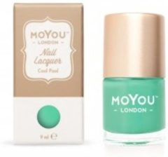 Groene Mo You London MoYou London - Stempel Nagellak - Stamping - Nail Polish - Cool Pool - Blauw