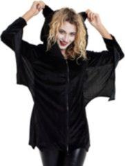 Zwarte Folat Party Products Vleermuis Jurk Dames - S/M