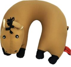 Rode Cuddlebug U-shape kussen | Paard | Knuffel | Kinderen