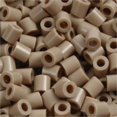 Creotime Strijkkralen, afm 5x5 mm, gatgrootte 2,5 mm, beige (6), medium, 6000stuks