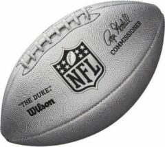 Zilveren Wilson WTF1827 Duke Metallic Edition Football - Official Size - Silver (inclusief Oppomp-Naaldnippel)