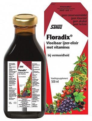 Afbeelding van Salus Elixer Floradix vloeibaar ijzer elixer (1 Doos van 500 ml)
