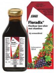 Salus Elixer Floradix vloeibaar ijzer elixer (1 Doos van 500 ml)