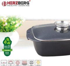 Herzberg HG-7032RG 32 cm Grillpan met Marmeren Coating