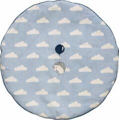 Lichtblauwe Bloomingville Mini - Speelkleed - Biologisch Katoen -Dusty/Blauw/Off Wite