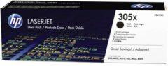 HP 305XD CE410XD Tonercassette 2-pack Zwart 4000 bladzijden Origineel Tonercassette