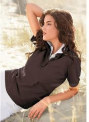 Bruine Casual Looks poloshirt in prachtige zomerkleuren