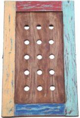VidaXL Wijnrek voor 15 flessen 47x28x78 cm massief gerecycled hout