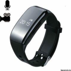 Zwarte Spycams4u.be Horloge met verborgen camera - moderne horloge met verborgen camera - spycamera in horloge - spywatch - sporthorloge met verborgen camera