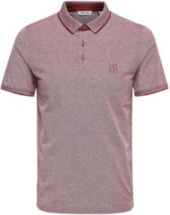 Only & Sons, Heren Shirt ´onsSTAN SS FITTED POLO TEE NOOS´, merlot