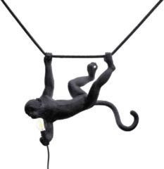 "Zwarte SELETTI - ""MONKEY LAMP-OUTDOOR"" RESIN LAMP SWING BLACK"
