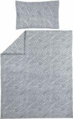 Meyco ledikant dekbedovertrek + kussensloop 100x135 cm Zebra grijs
