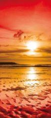 Rode Fotobehangart Deursticker Muursticker Zee | Rood | 91x211cm