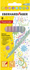 Viltstiften Eberhard Faber Glitter pastel kleuren assorti 8st. EF-551009