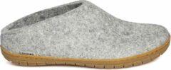 Glerups Slipper met rubber zool-Grijs-45