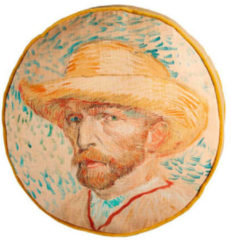 Naturelkleurige Beddinghouse sierkussen Self Portrait (40x40 cm)