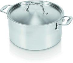 Zilveren Alva Chef Tri-ply Kookpan Met Deksel - Ø 24 cm
