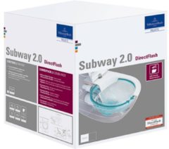 Villeroy & Boch Subway 2.0 CombiPack hangend toilet diepspoel CeramicPlus Directflush met toiletzitting SlimSeat en softclose en quickrelease, wit