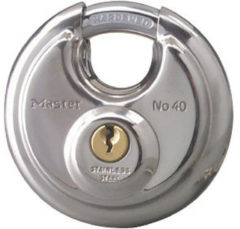 Master Lock rond hangslot met dubbele vergrendeling staal 70 mm