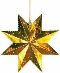 Gouden Raamdecoratie - Goud - Kerstster met verlichting - Konst Smide