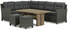 Antraciet-grijze Domani Furniture Domani Luga/Brighton dining loungeset 5-delig