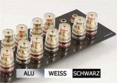 Lyndahl Highend Lautsprecherblende LKL007 für 7.1 Surround Lautsprecher Farbe: Silber