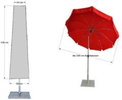 Schirmhülle Länge 120cm Sonnenschirm Schutzhaube Schutzhülle Abdeckplane Grasekamp Silbergrau
